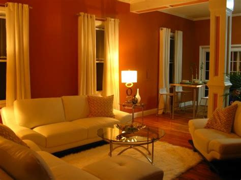 orange wohnzimmer burnt orange living room high end miami flavor walls