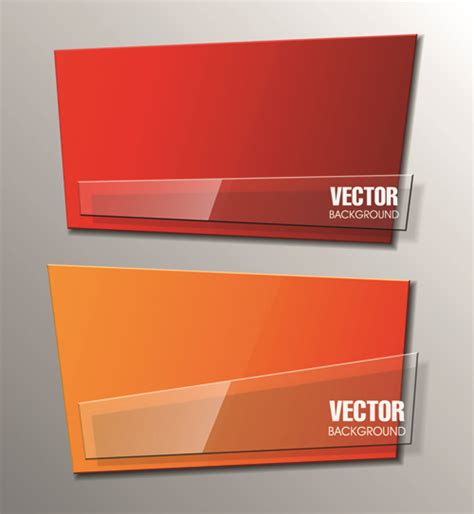 design banner eps file shiny glass with origami banner vector 04 vector banner