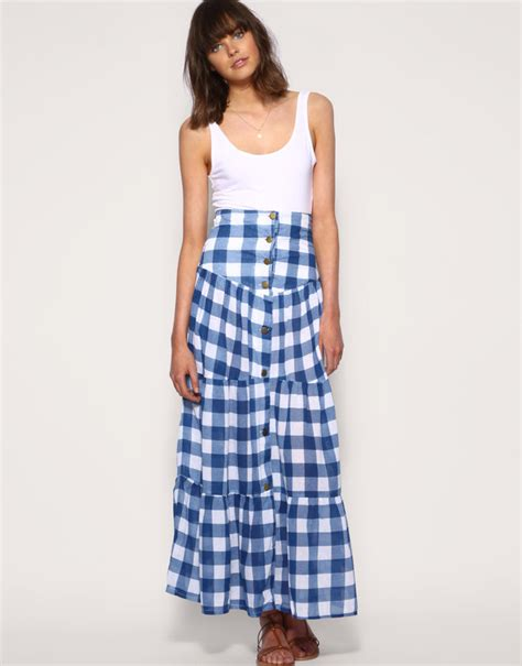 tiered maxi skirts for summer 2010 popsugar
