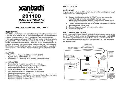 xantech ir receiver wiring diagram 28 images xantech