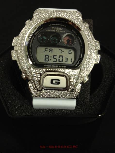 Casio G Shock Dw6900 Black White bling bling g shock 316l white band dw6900 custom