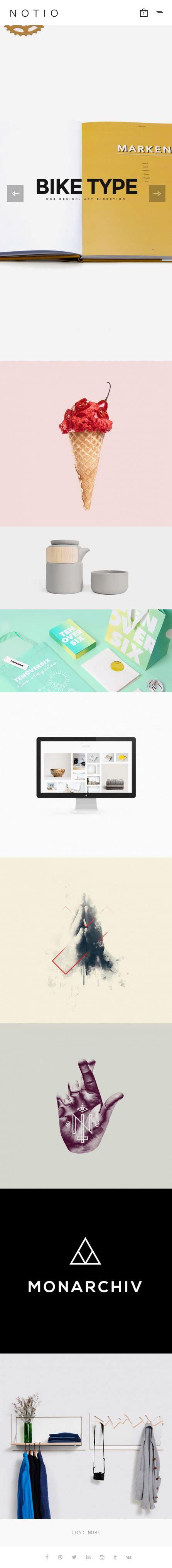 theme wordpress notio notio premium responisve deluxe portfolio wordpress theme