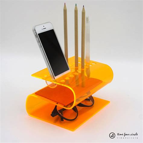 bent acrylic desk organizers project ideas