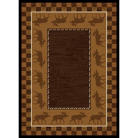 moose area rugs united weavers 174 moose area rug 5 3 quot x7 2 quot 195737 rugs at sportsman s guide