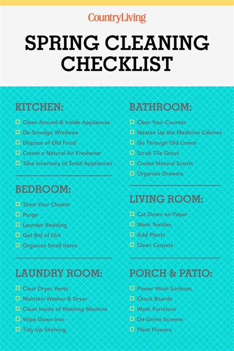 spring cleaning checklist room by room 32 ways to freshen every room for spring home design