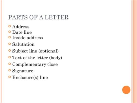 Business Letter Grade 9 letter writing communication skills