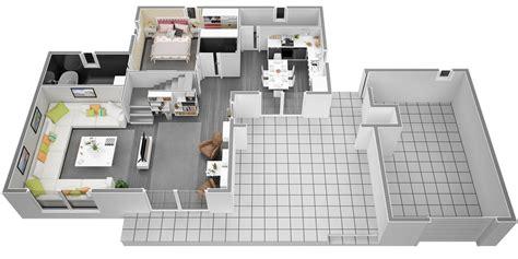 Modele De Cuisine En U 3161 by Plan De Maison Moderne A Etage Ls14 Jornalagora
