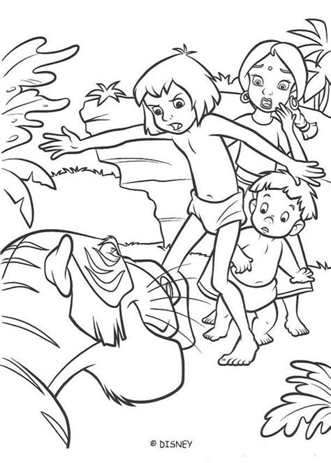 mowgli protects shanti and ranjan coloring pages
