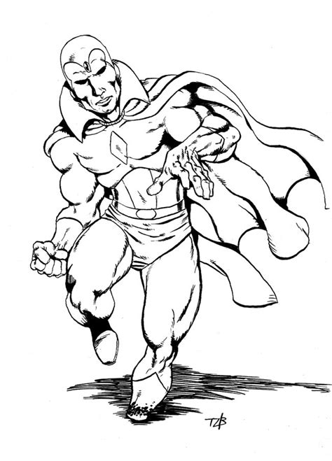 Vision Avengers Age Of Ultron Coloring Pages Coloring Pages Vision Coloring Page