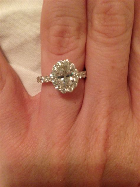 Christopher Designs Oval Halo Engagement Ring   Weddingbee