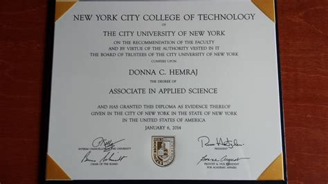 Nursing Diploma Programs In Ny - new york city college of technology diploma donna hemraj
