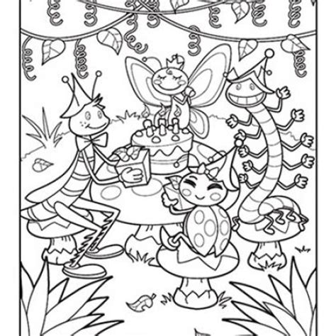garden insects coloring page bug party xavier s birthday pinterest