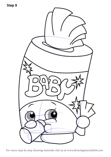 coloring pages of baby shopkins learn how to draw baby swipes from shopkins shopkins