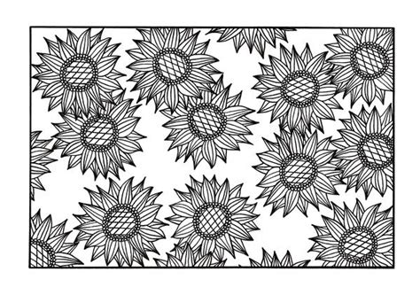 sunflower coloring pages  adults favecraftscom