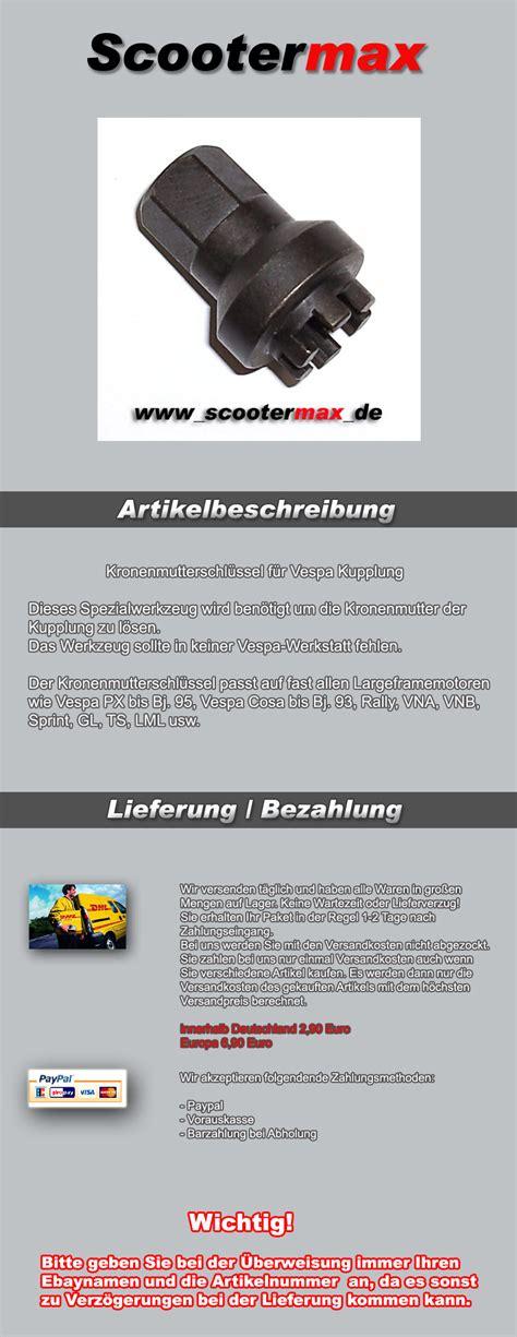 Lu Gl Max kronenmutterschl 252 ssel kupplung vespa motor px cosa t5