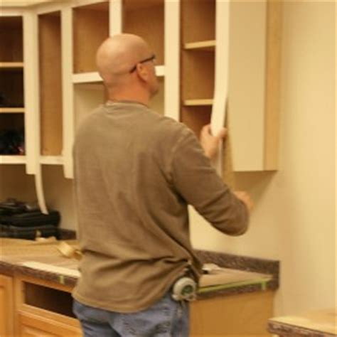 Peel And Stick Veneer For Kitchen Cabinets by Cabinet Refacing With Painted Solidtone Veneer