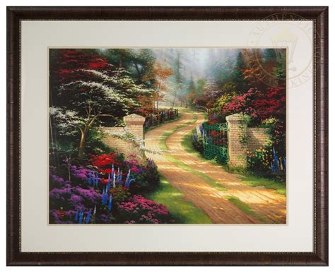 Matted Artwork by Gate Framed Matted Print Signed By Kinkade