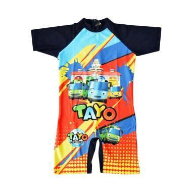 Mainan Anak Tayo Mobil Tayo Biru jual baby motif tayo baju renang anak laki laki