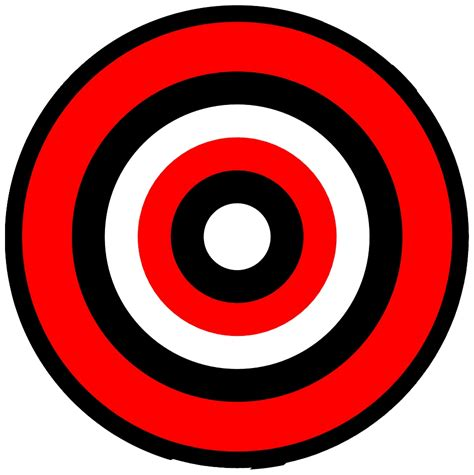 printable shooting targets bullseye learning target bullseye clip art