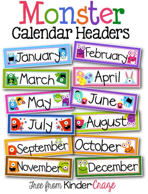 classroom calendar template a sweet and simple classroom calendar