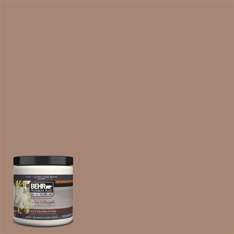 home depot interior paints behr premium plus ultra 8 oz ul130 18 tribal pottery