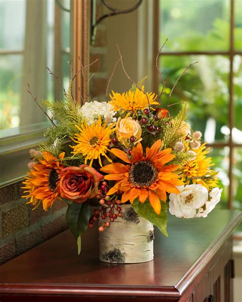 silk centerpieces vibrant autumn silk flower centerpiece at
