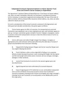 Independent Contractor Agreement Sle Template by Truck Owner Operator Resume Sle Bestsellerbookdb