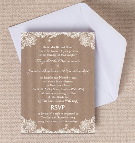 Paper Lace Wedding Invitations by 17 Of The Best Printable Wedding Invitations