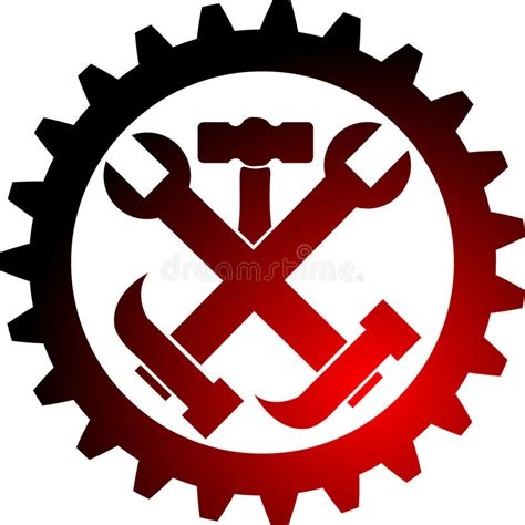 logo drawing tool tool gear logo stock vector illustration of component
