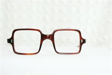 Square Glasses vintage 60s square glasses mod tortoise 1960 s by diaeyewear
