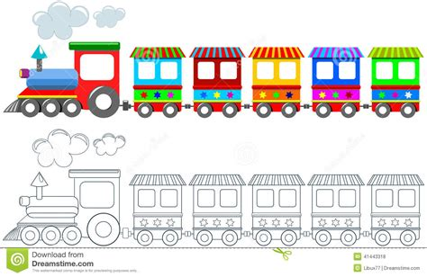 color image online train clipart printable collection