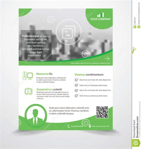 flyer template editor business flyer template stock vector image 47987670