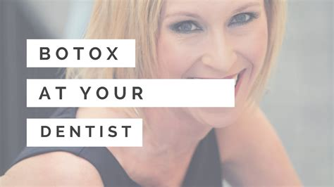 Dentists Doing Botox by Botox Injections At Your Dentist