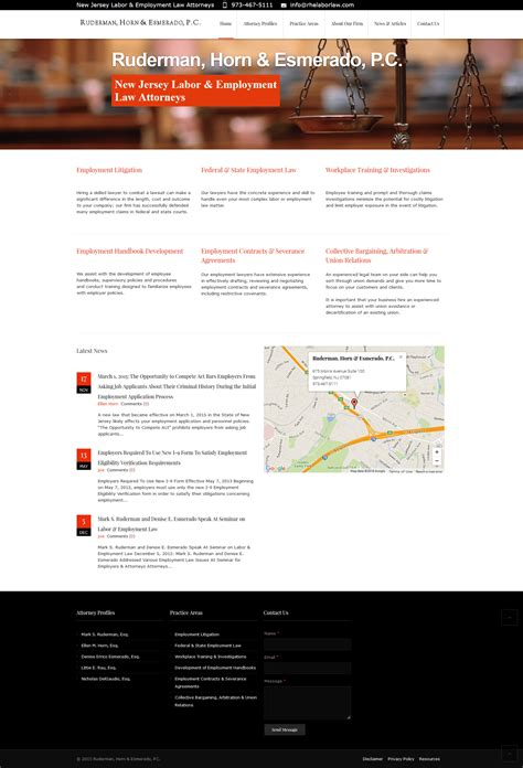re layout ruderman horn esmerado p c website re design
