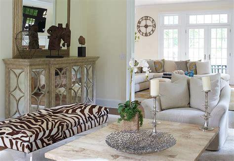 long bench for living room cottage living room with long zebra bench cottage