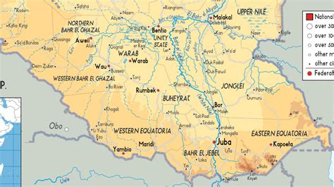 south sudan map safari notes south sudan map where will its new capital be