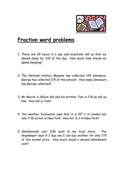 worksheets for fifth grade math word problems