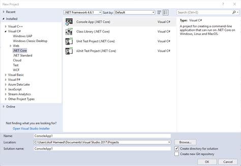 templates for asp net application asp net web application template is missing visual studio