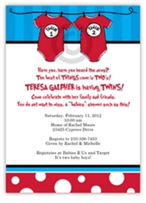 thing 1 and thing 2 baby shower invitations dr seuss style baby shower