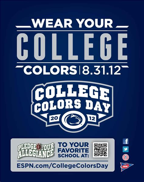 college colors college colors day is august 31 wear your blue white