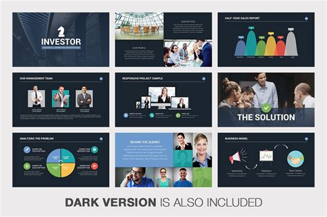 Investor Pitch Deck Powerpoint By Louis Twelve On Creative Market 디자인 Keynote Template Pitch Deck Design Template