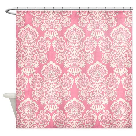 pink and white damask curtains trendy vintage pink damask shower curtain by yourperfecthome