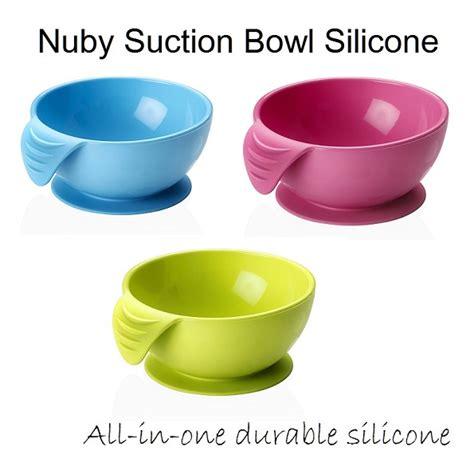 Nuby Bowl Mangkok Anak Nuby nuby suction bowl silicone mangkok makan bayi menempel di meja