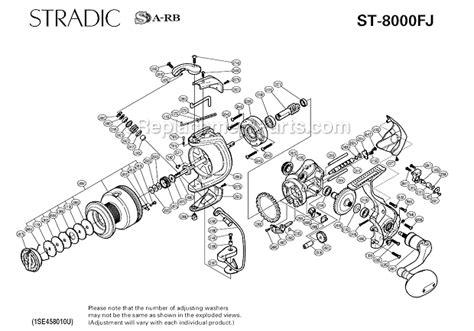 shimano stradic parts diagram shimano st 8000fj parts list and diagram