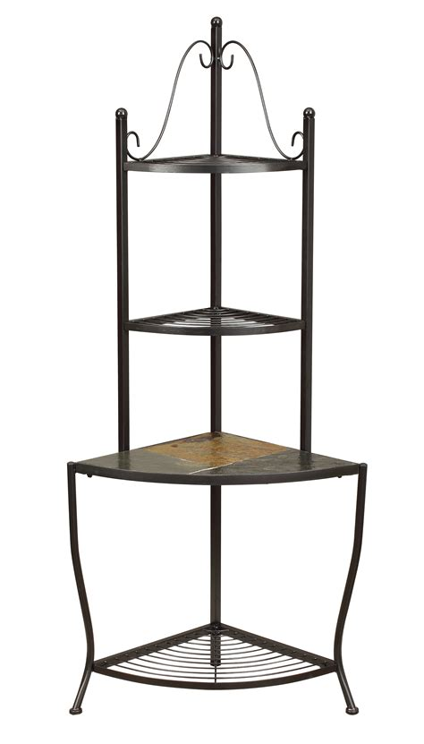 Corner Baker Racks by Corner Baker S Rack W Slate Top
