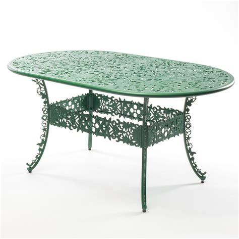 furniture industry aluminium oval table green seletti