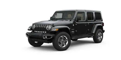 jeep wrangler exterior color options