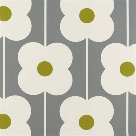 Curtains in Abacus Flower Olive (ABACUSFLOWER/Olive)   Ashley Wilde Orla Kiely Prints Volume One