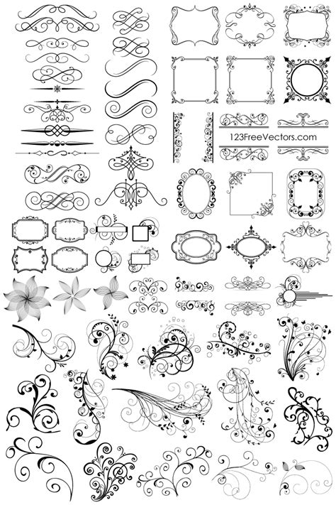 Download 65 Free Floral Vector Ornaments Pack | Guru Corel