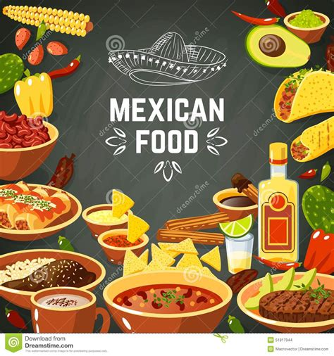 mexican food illustration stock vector image of avocado